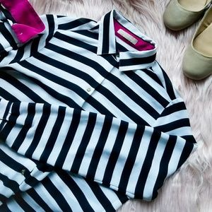 Banana Republic Black and White Button Up
